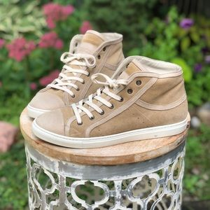 Roots leather high top sneakers - size 38 / 8